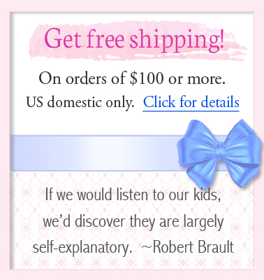 Free shipping for children's jewelry orders over one hundred dollars.