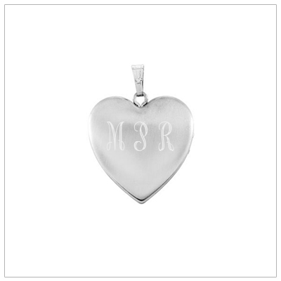 Sterling silver locket necklace engraved with a Cross and Baptism symbols. Custom engrave back.