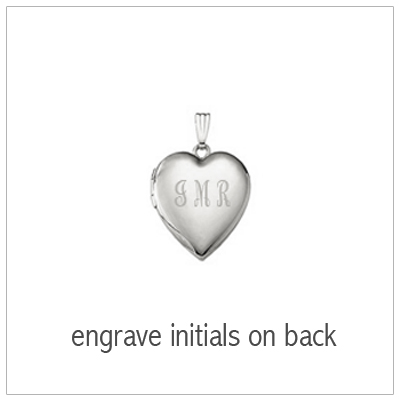 Sterling heart locket with engraving on back