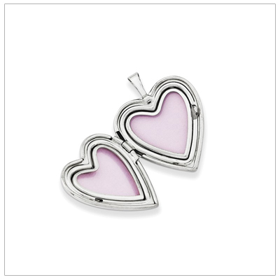 Sterling heart lockets open to hold two small photos.