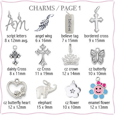 Sterling silver charms available to add to your locket necklace.
