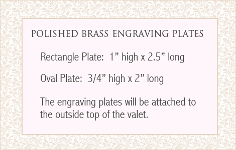 engraving plate sizes