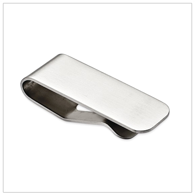 Brushed Stainless Steel Money Clip - 1719