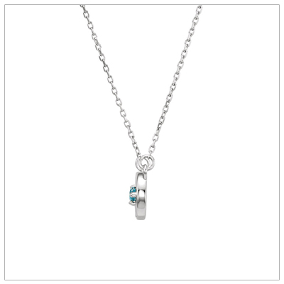 Side view of Infinity Birthstone Mom Necklace.