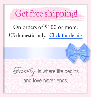 Free shipping for family birthstone jewelry orders over one hundred dollars.