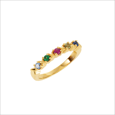 10kt Gold XO Mothers Rings - 1373