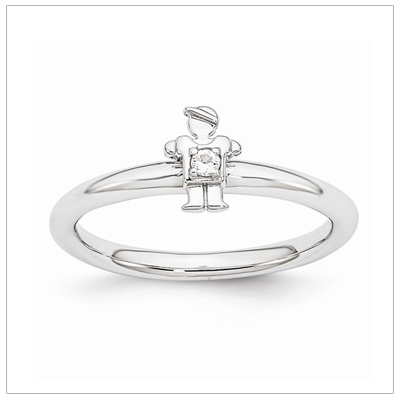 Stackable Mothers Rings Boy, Apr