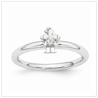 Stackable Mothers Rings Girl, Apr