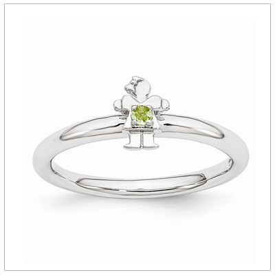 Stackable Mothers Rings Girl, Aug