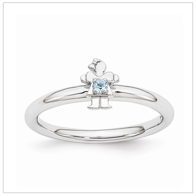 Stackable Mothers Rings Girl, Dec