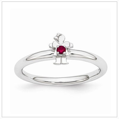 Stackable Mothers Rings Girl, July
