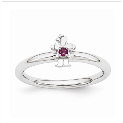Stackable Mothers Rings Girl, June