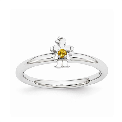 Stackable Mothers Rings Girl, Nov