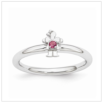 Stackable Mothers Rings Girl, Oct