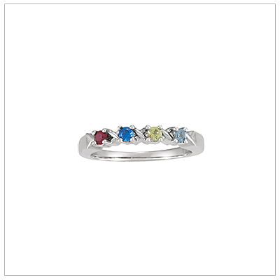 Sterling Silver XO Mothers Rings - 1371