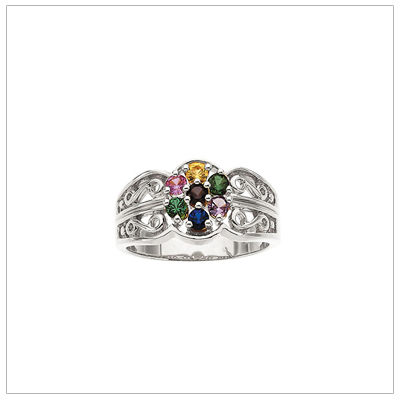 birthstone multi s p mothers cluster jewellery rings personalized v ring and family row mother stones multirow proxyimage collections