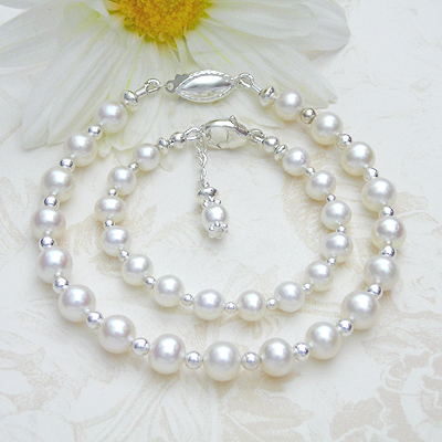 Pearl Mother Daughter Bracelets