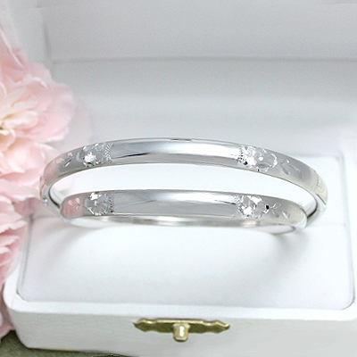 "Sterling Engraved Bangles, 5.25"" - 1341"