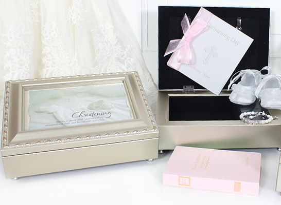 Keepsake boxes for Christening or Baptism