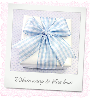 white and blue wrap