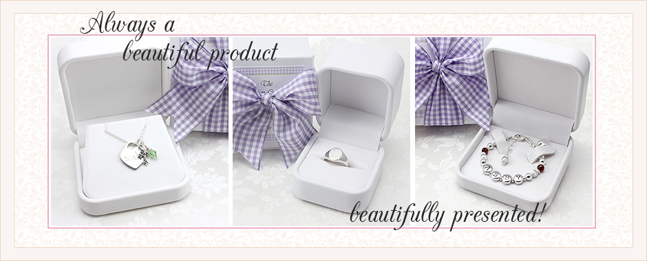 White jewelry box packaging for children's jewelry. Children's necklace packaging, kids ring packaging, and baby bracelet packaging.