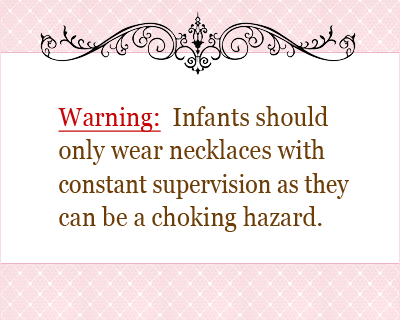 baby necklace warning