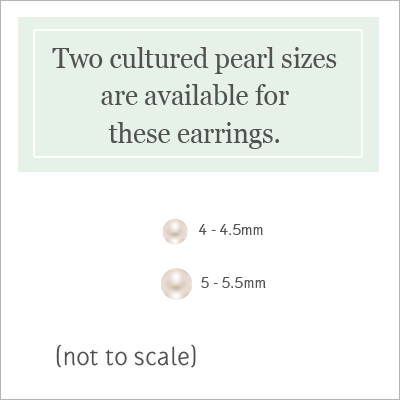 Sterling Silver Pearl Earrings - 1387