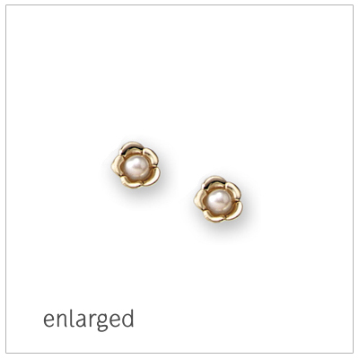 14kt Gold and Pearl Earrings