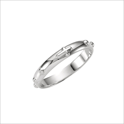 Sterling Rosary Ring - 1165