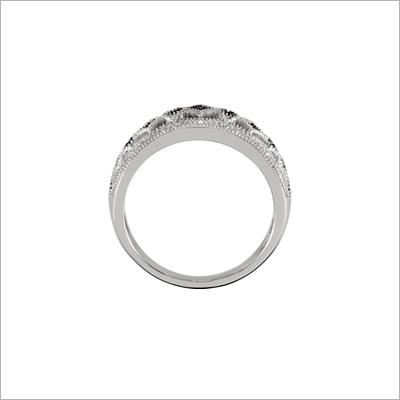 Black Spinel Ring - 1368