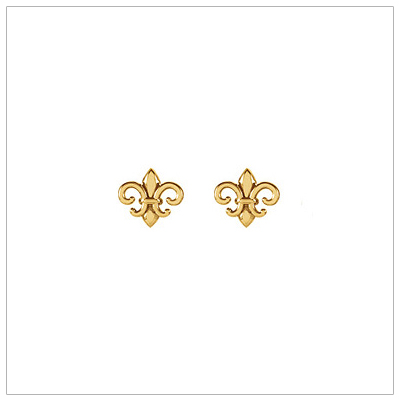 14kt Gold Fleur de Lis Earrings