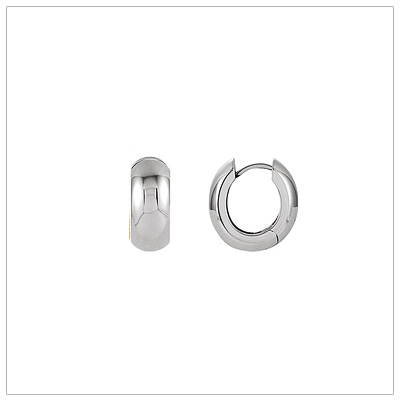 Wide Silver Hoop Earrings
