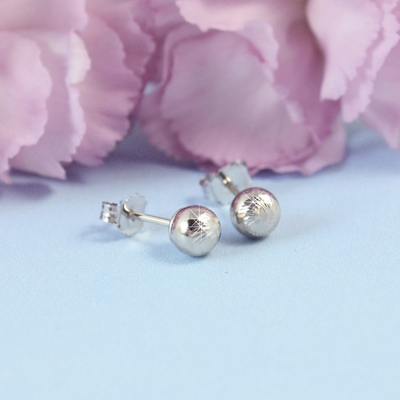 14kt Diamond-Cut Ball Earrings - 1668