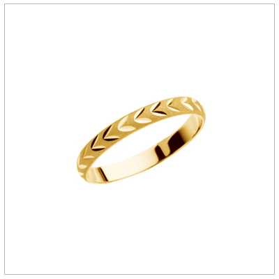 14kt Yellow Diamond Cut Knuckle Rings - 1913
