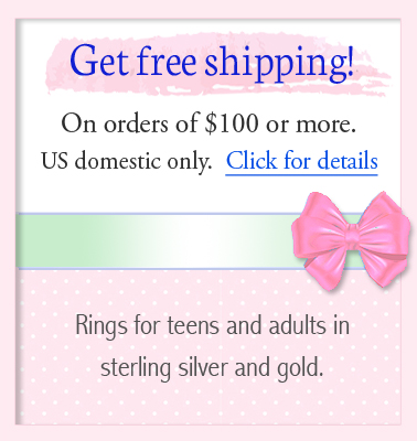 Free shipping for teen jewelry orders over one hundred dollars.