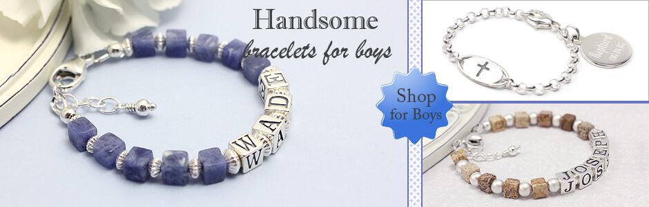 Shop for boys bracelets in handsome modern styles.
