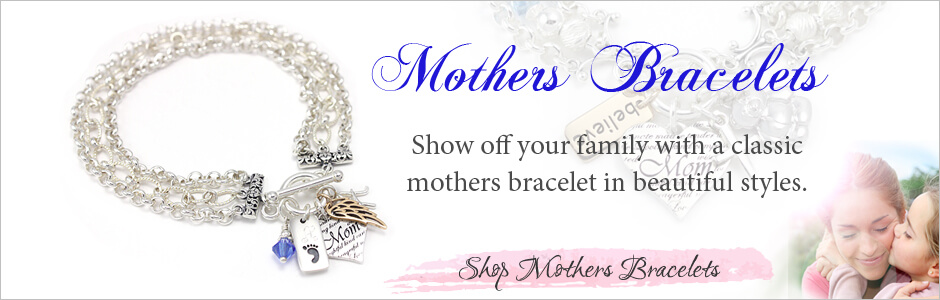 Shop our large selection of mothers bracelets, name bracelets, and multi-name bracelets just for mom.
