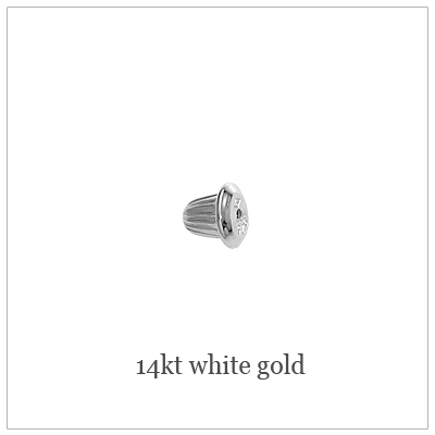 14kt White Screw Back Replacements
