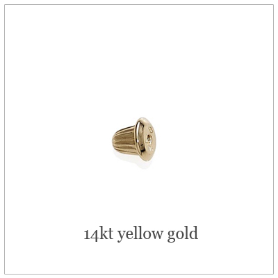14kt Yellow Screw Back Replacements