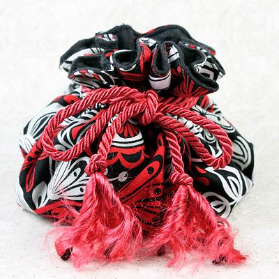 Red 8 Pocket Puff Pouch anti-tarnish jewelry storage