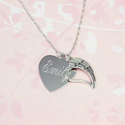 Heart of an Angel Necklace - 1569