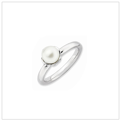 Sterling and Pearl Rings