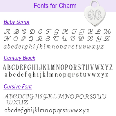 Fonts for sterling charm page one.