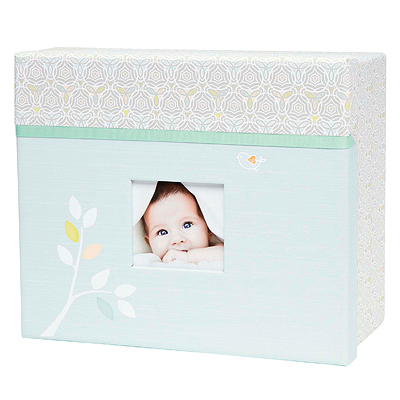Elegant keepsake chest for baby boys or baby girls with photo frame in lid. Store memory book in top, 2 pull out drawers for other special items.