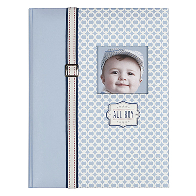 Padded and customizable memory book for little boys. Front cover is menswear inspired for that little boy look. Record his milestones for the first 5 years on 68 interior pages.