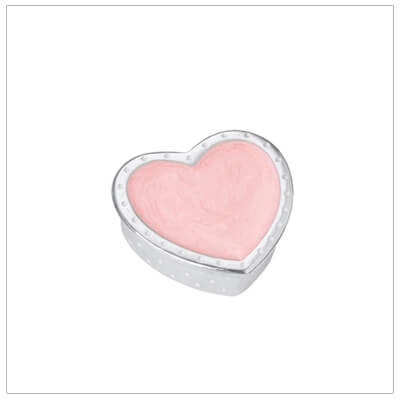 Fine pewter gift for girls, pink heart tooth fairy box that can be personalized.