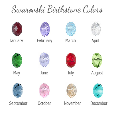 Birthstone colors for bracelet.