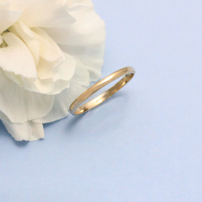 Traditional gold baby rings in 14kt yellow gold that make perfect baby gifts.