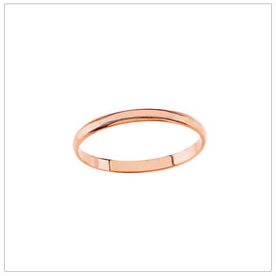14kt rose gold rings for babies and children.