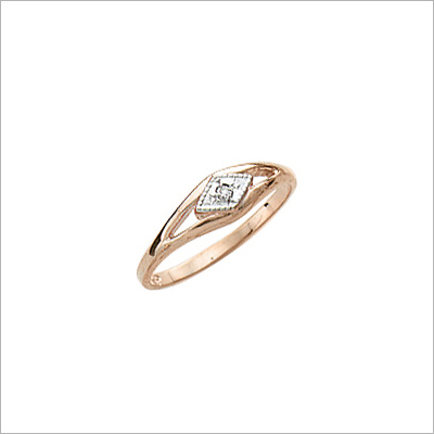 10kt gold baby and toddler ring with genuine diamond.